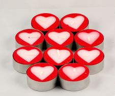 Free Candle Hearts Royalty Free Stock Image - 1534606