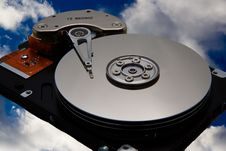 Disk Drive In The Sky Royalty Free Stock Photo