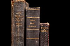 Free Three Very Old Bibles Including Two German Bibles Royalty Free Stock Image - 1535466