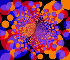 Free Fractal Background - Round Colorful Shapes 2 Royalty Free Stock Photos - 1535848