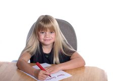 Free Dear Santa Letter Girl Stock Photos - 1535903