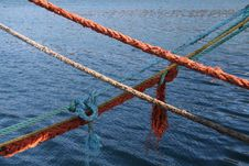 Parallel Ropes Stock Photography