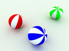 Varicoloured Child S Balls Stock Photos
