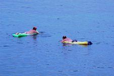 Floating Couple Stock Photo
