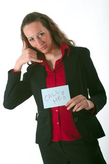 Free Call Me! Stock Image - 1538411
