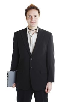 Free Businessman With Laptop Stock Photos - 1538413