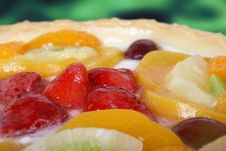 Free Summer Garden Fruits In A Sweet Glazed Cream Pie Dessert Stock Photo - 1538420