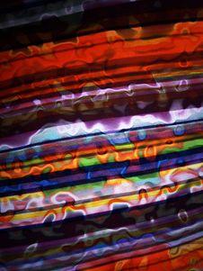 Warped Fabric Stock Image