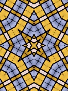 Free Kaleidoscopic Stained Glass Royalty Free Stock Photos - 1539188