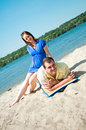 Free Beautiful Married Couple On The Beach Royalty Free Stock Images - 15300809