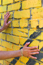 Free Man S Hands On The Wall Stock Photo - 15300930