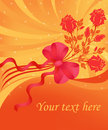 Free Greeting Card With Roses Stock Photography - 15304542