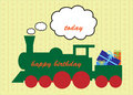 Free Happy Birthday Train Greeting Card Stock Photo - 15309500