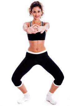 Free Cute Fitness Girl Stretching Her Hands Stock Photography - 15300232