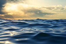 Free Wave On Sunset Stock Photo - 15301090