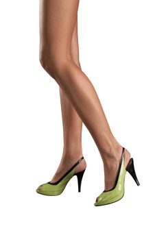 Free Female Feet In Green Shoes Stock Photos - 15301183