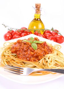 Free Colorful Spaghetti Bolognese Royalty Free Stock Image - 15301996