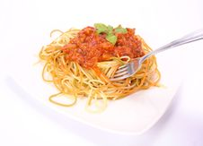 Free Colorful Spaghetti Bolognese Stock Image - 15302001