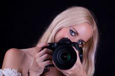 Free Woman And Camera Stock Photos - 15302503