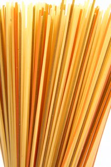 Raw Colorful Spaghetti Stock Photos