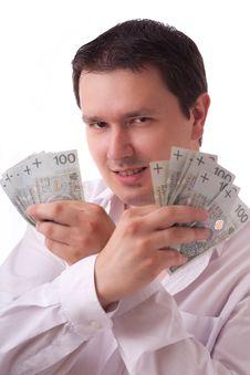 Free Man With Money Stock Photo - 15302790
