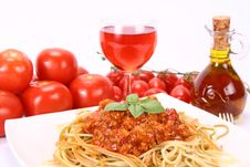 Free Colorful Spaghetti Bolognese Stock Photo - 15302950