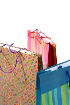 Free Bags For Shopping On White Background Royalty Free Stock Image - 15303046