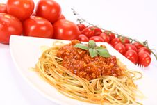 Free Colorful Spaghetti Bolognese Royalty Free Stock Image - 15303146
