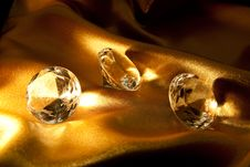 Free Diamond On Satin Fabric Stock Photos - 15303433