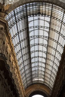 Free Glass Roof Of  Vittorio Emanuele Shopping Gallery Royalty Free Stock Photos - 15303488