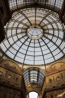 Free Dome Of Vittorio Emanuele Shopping Gallery Royalty Free Stock Photos - 15303578