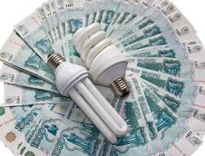 Energy Saving Bulb Royalty Free Stock Photo