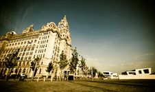 Free Liver Building In Warm Sunlight With Blue Sky Royalty Free Stock Images - 15303889
