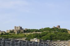 Modern Buildings And White Cliffs From Dover UK Stock Photos