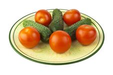 Free Tomatoes & Cucumbers Royalty Free Stock Photos - 15304298