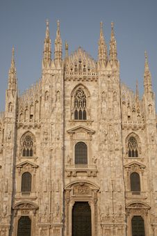Free Facade Of The Duomo Cathedral, Milan Royalty Free Stock Image - 15304366
