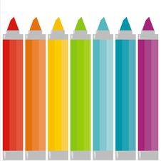 Free Rainbow Markers Stock Photography - 15304452