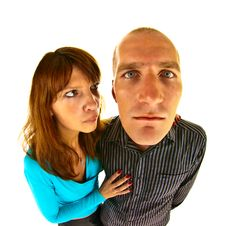 Free Distorted Couple Royalty Free Stock Image - 15304486