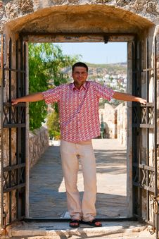 Free Man In A Doorway Stock Photos - 15304663
