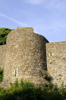 Fortifications From Dover Castle Stock Photography