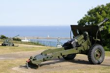 Canons From Dover Castle Royalty Free Stock Images