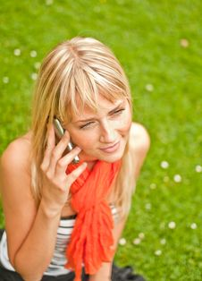 Free Young Woman With Mobile Phone Stock Image - 15305041