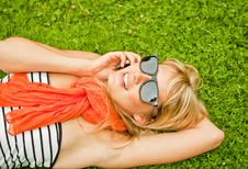 Free Young Woman With Mobile Phone Stock Photography - 15305082