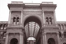 Entrance To Vittorio Emanuele Shopping Gallery Royalty Free Stock Photos