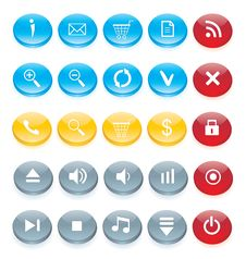 Free Icon Set For Web Interface Royalty Free Stock Images - 15305279