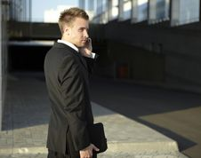 Free Closeup Portrait Of Young Businessman Stock Image - 15305421