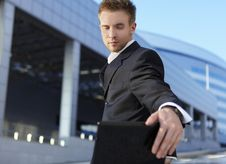Free Closeup Portrait Of Young Businessman Royalty Free Stock Photos - 15305578