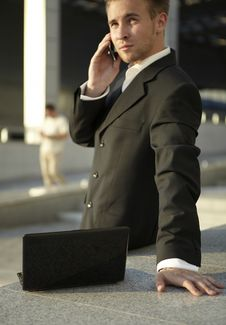 Free Closeup Portrait Of Young Businessman Stock Image - 15305631
