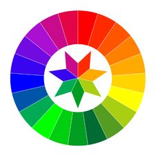 Color Wheel Illustration Stock Images