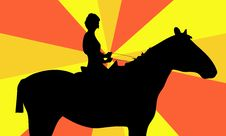 Free The Girl On A Horse Stock Photo - 15306570